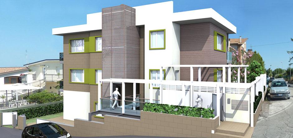 Green house appartamenti classe a for Palazzine moderne